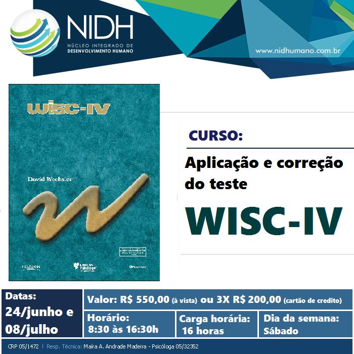 Curso: Aplicação e correção do Teste WISC-IV