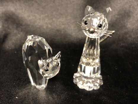 Swarovski Retired Cat Figurines