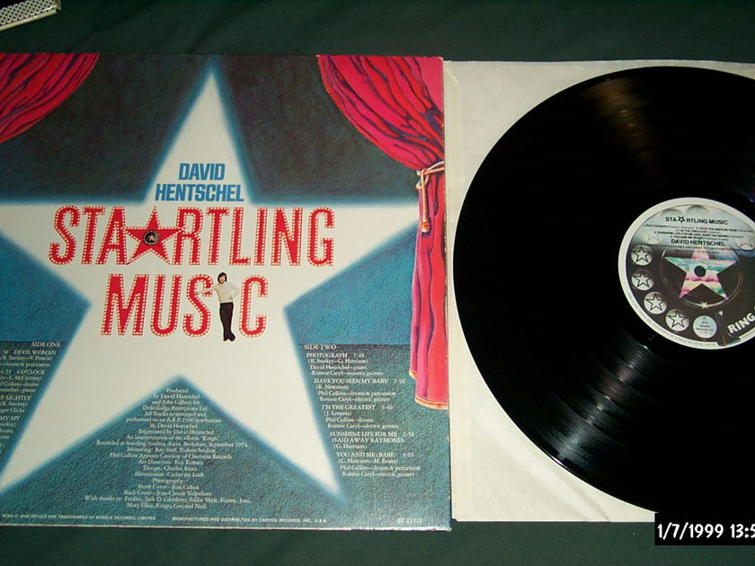 David Hentschel - Sta*ling Music Ring O' Records Label LP NM