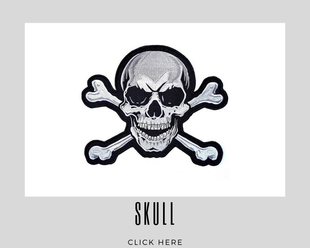 Custom Embroidery Patches Skull Corporate
