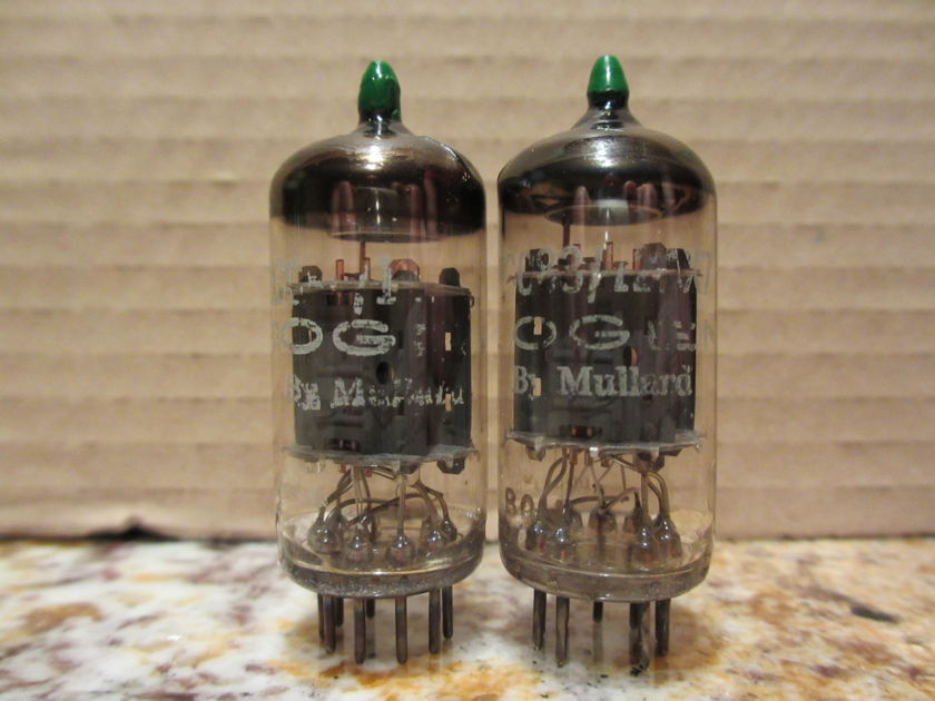 GREAT M. Pair Mullard 12AX7/ECC83s  Phono Grade Pair; Copper Posts-- Selected by Vintage Tube Services