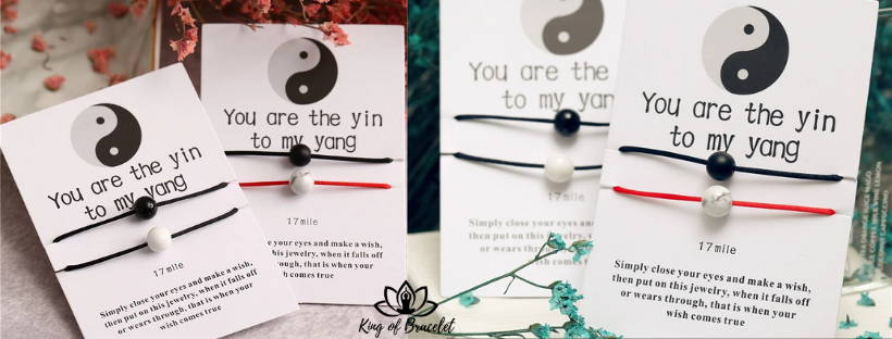 Bracelet Yin & Yang pour Amitié ou Amour - King of Bracelet