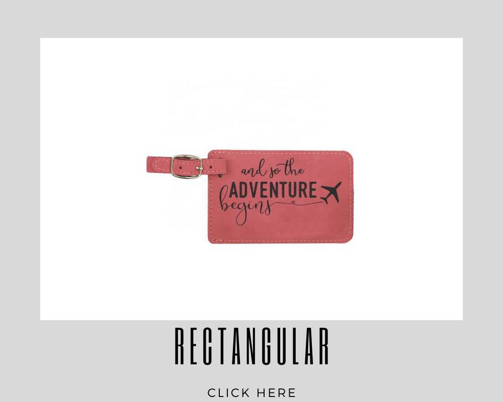 Custom Corporate Rectangular Luggage Tags