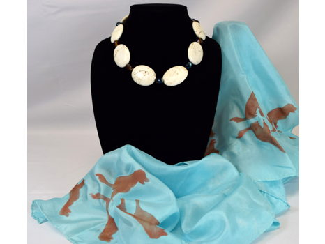 Necklace and Scarf Set