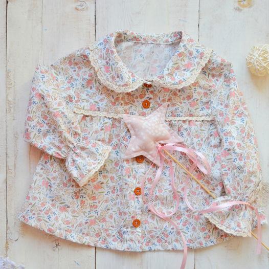 Блуза для девочки, из 100%хлопка