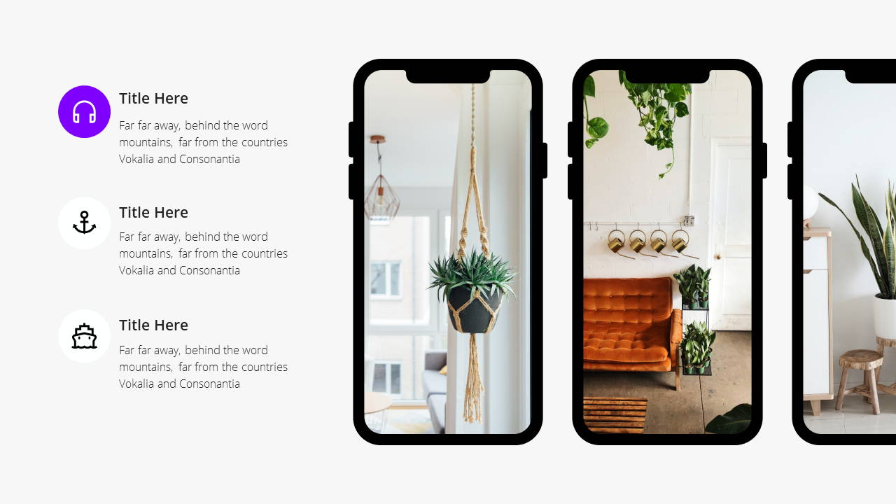Minimal X  Pitch Deck Presentation Template Smartphone Features