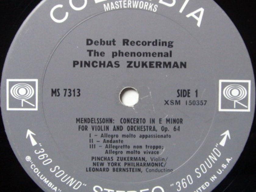 Columbia / PINCHAS ZUKERMAN Debut, - Mendelssohn-Tchaikovsky Violin Concertos, NM!