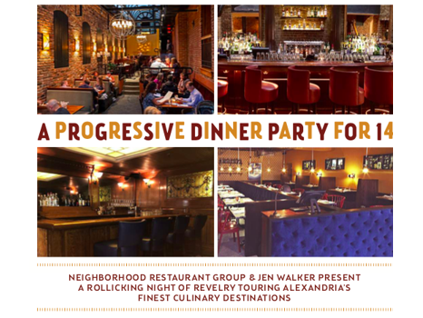 Progressive Dinner & Disco Party Bus for 14 with the Neighborhood Restaurant Group and the Jen Walker Team