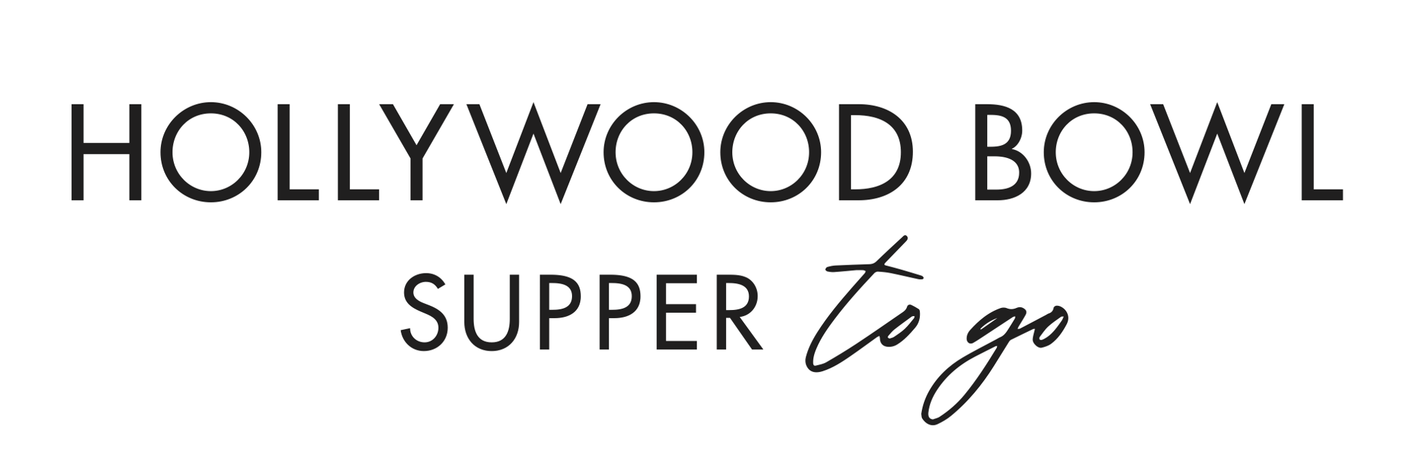 Hollywood Bowl Supper to Go logo