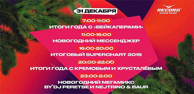 Новогоднее расписание эфира Радио Record - OnAir.ru
