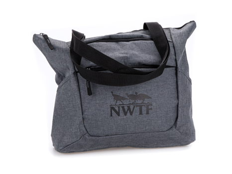 Premium Zippered Tote (Heather Gray)