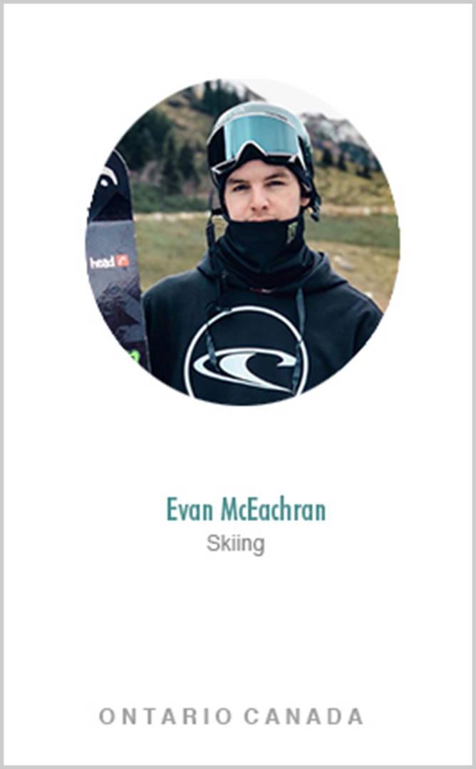Skier Evan McEachran