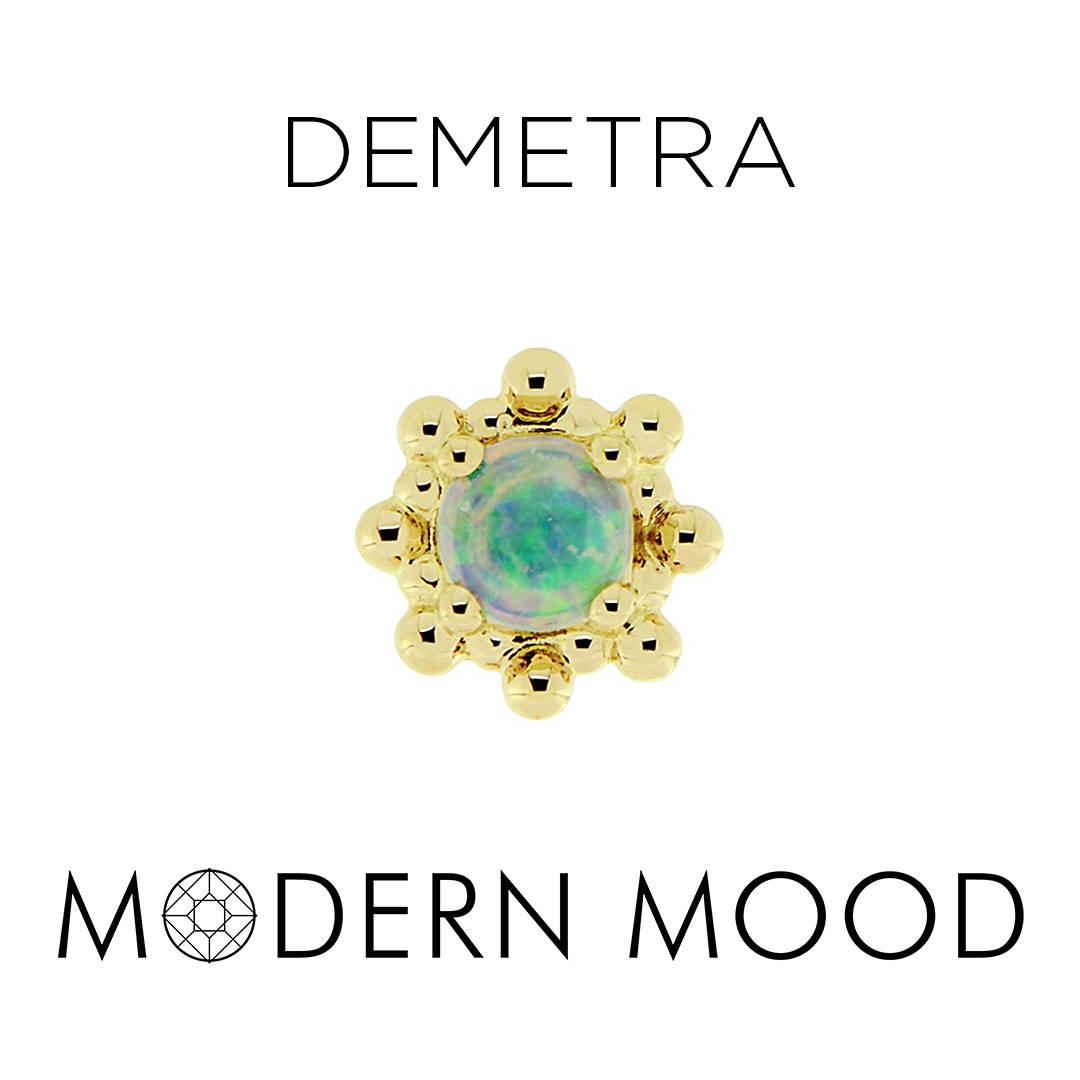 demetra goddess opal piercing jewelry