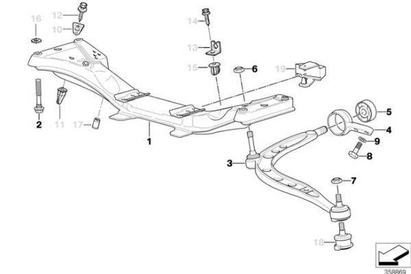 E36 Front Control Arm Bushing Replacement 31129059288