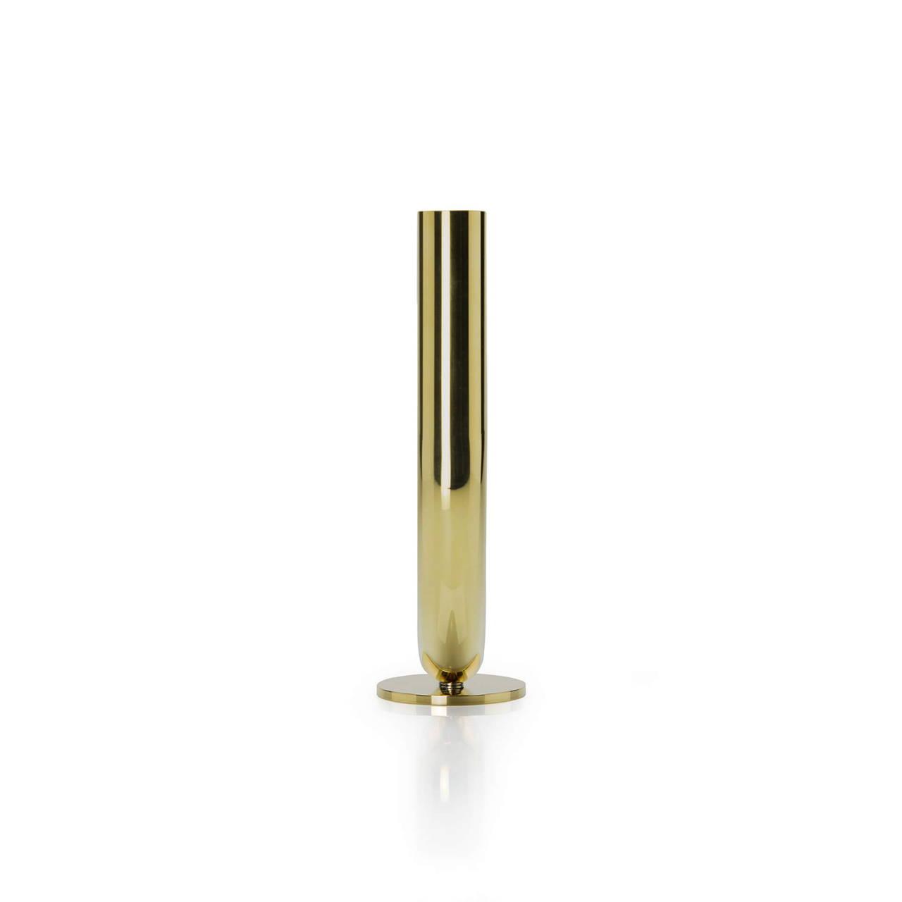 U Candleholder in Brass side profile