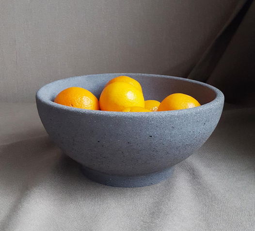 Ваза бетонная для фруктов