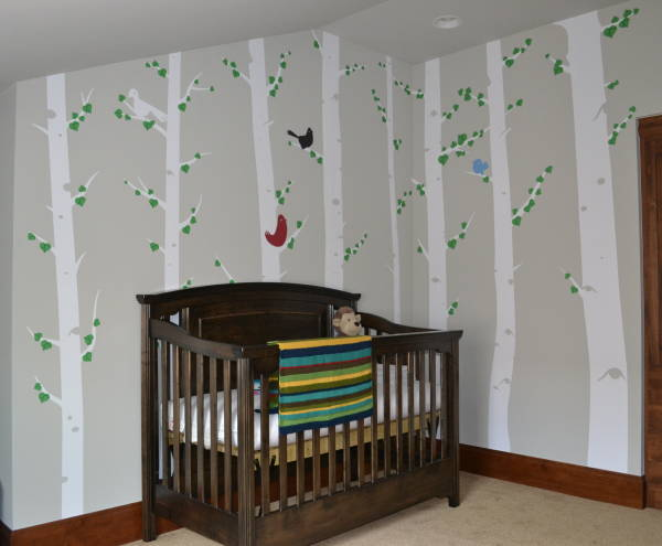 Interior Vinyl Wall Wrap -  Child's Room Forest Wall Wrap