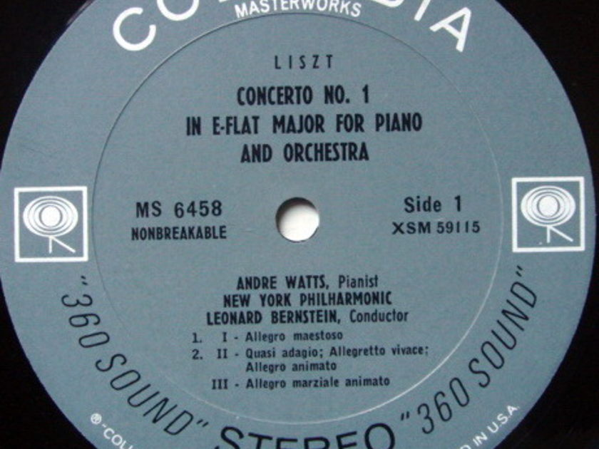 Columbia 2-EYE / ANDRE WATTS Debut Album, - Liszt Piano Concerto No.1, EX!