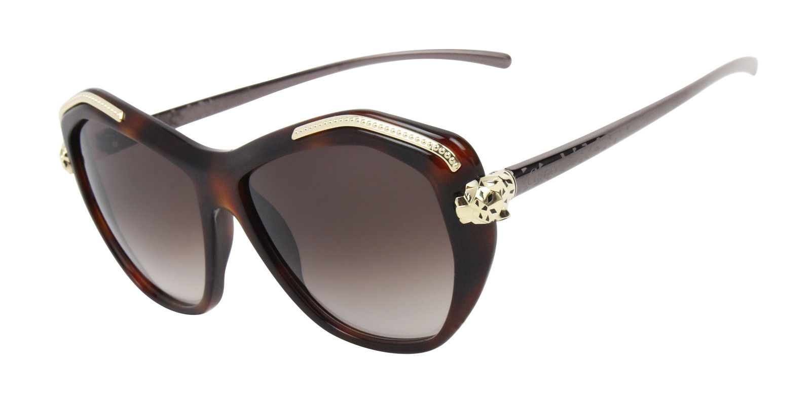 CARTIER WOMEN'S PANTHERE WILD T8201076 SUNGLASSES (side)