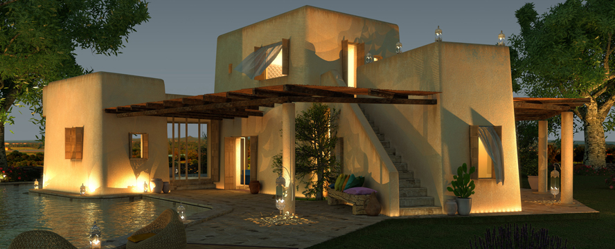 Hamburg - Luxury villa Arenada in the resort Is Molas in Sardinia designed by star architect Massimiliano Fuksas.