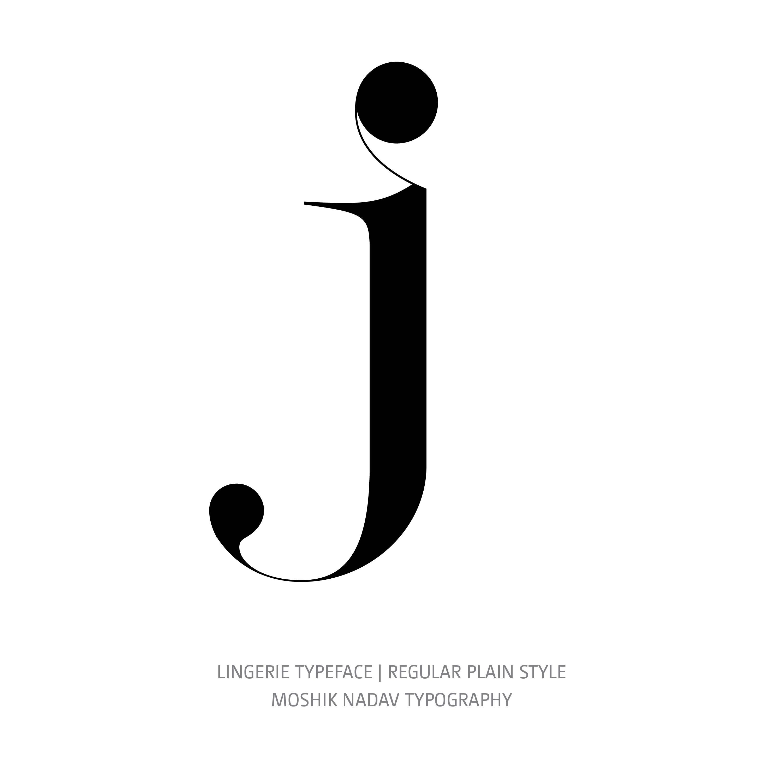 Lingerie Typeface Regular Plain j