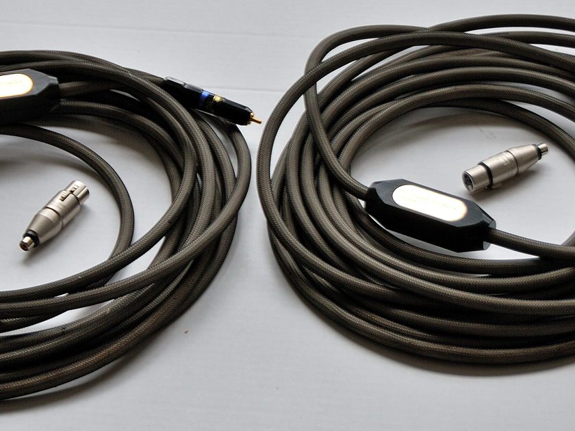 Transparent Reference XLR/RCA-RCA XL 2042 XLR-RCA adapters included