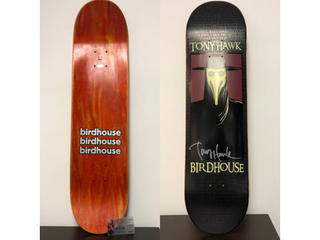 Tony Hawk autographed birdhouse stakeboard