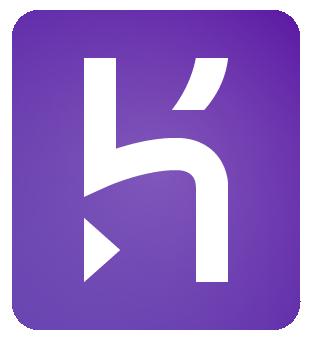 Heroku logo solid gradient