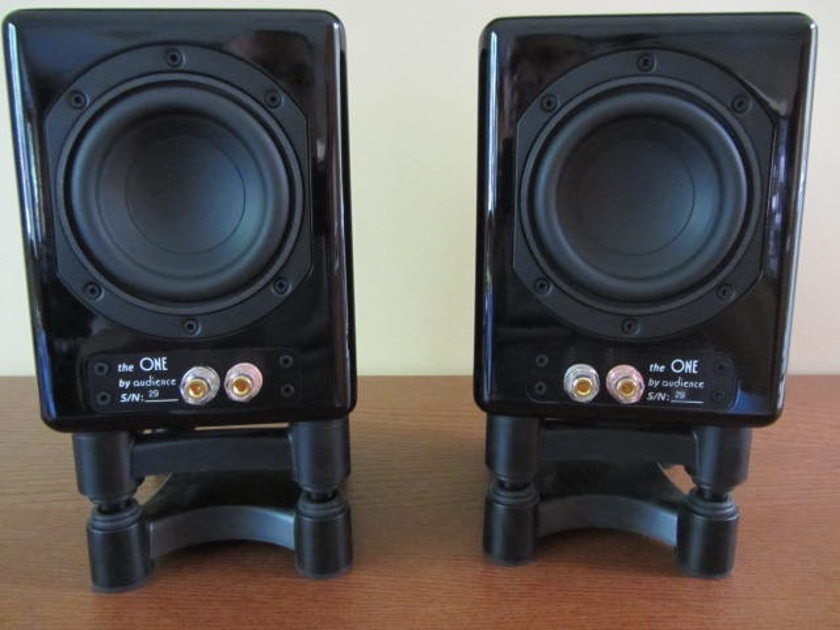 Audience ClairAudient The One Loudspeakers with IsoAcoustic stands