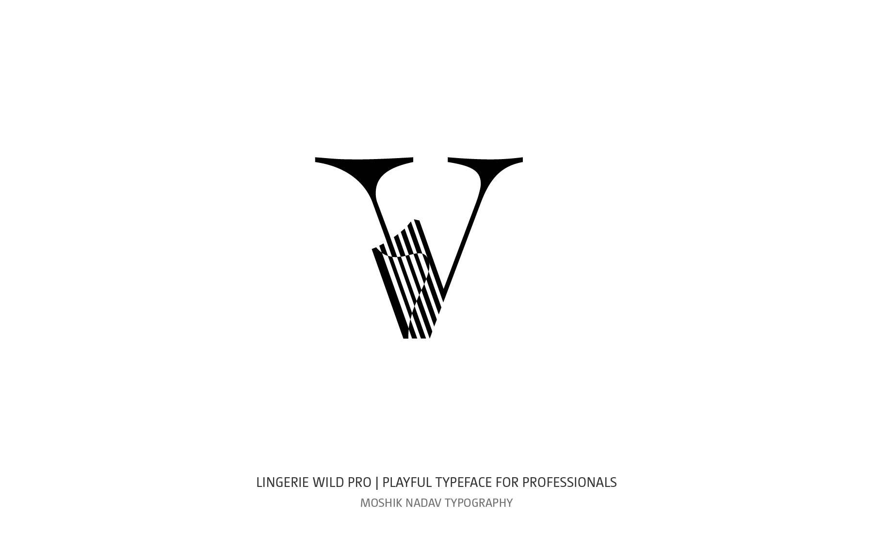 Lingerie Wild Pro Typeface by Moshik Nadav Typography NYC