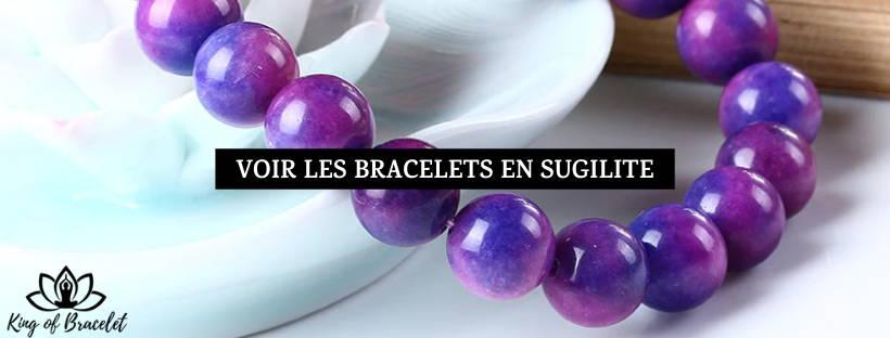 Bracelet en Pierre Sugilite - King of Bracelet