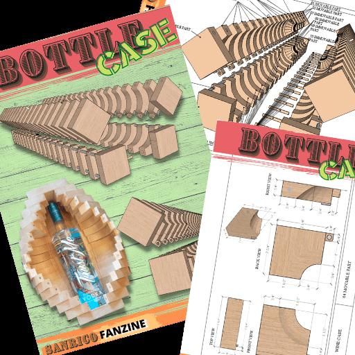 Sanrico Fanzine Bottle Case Plan