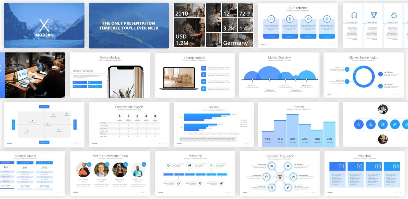 pitch deck powerpoint presentation template, startup presentation template