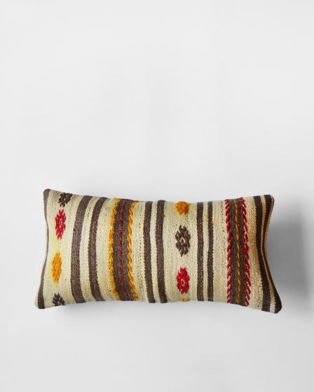 Декоративная подушка из ковра килим Striped Beige