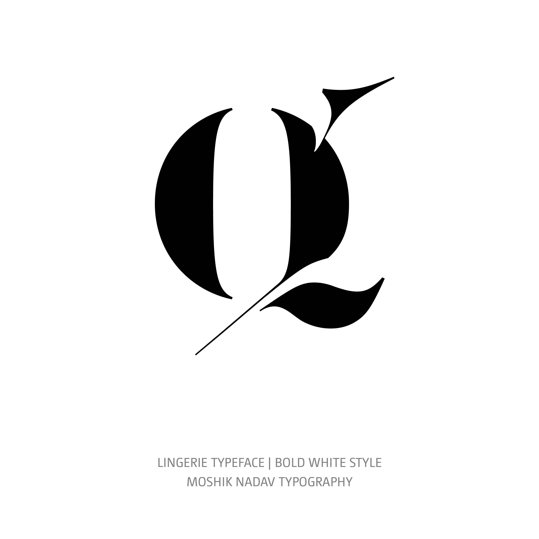Lingerie Typeface Bold White q
