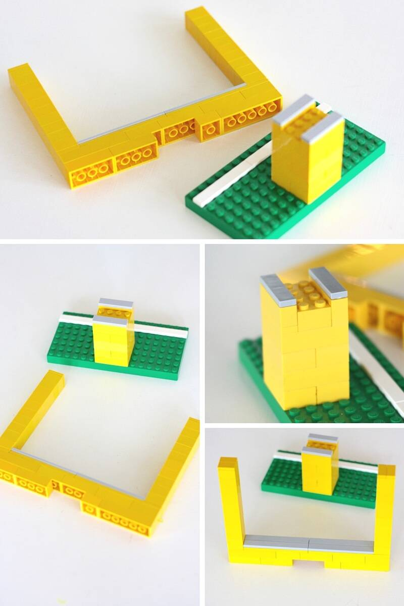 make lego paper football