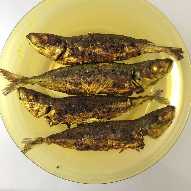 "Nov 1st, 2019 - ""Fried sardine fish with turmeric and curry powder/黄姜咖喱粉煎鱼""  I wanted to make this dish for many years but I don't have the recipe. Finally... for the first time. I changed the fish to sardine. Love this dish very much."
