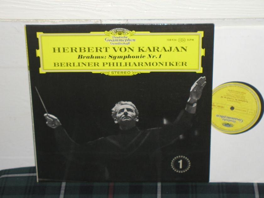 Von Karajan/BPO - Brahms No.1 DG German import  2lp