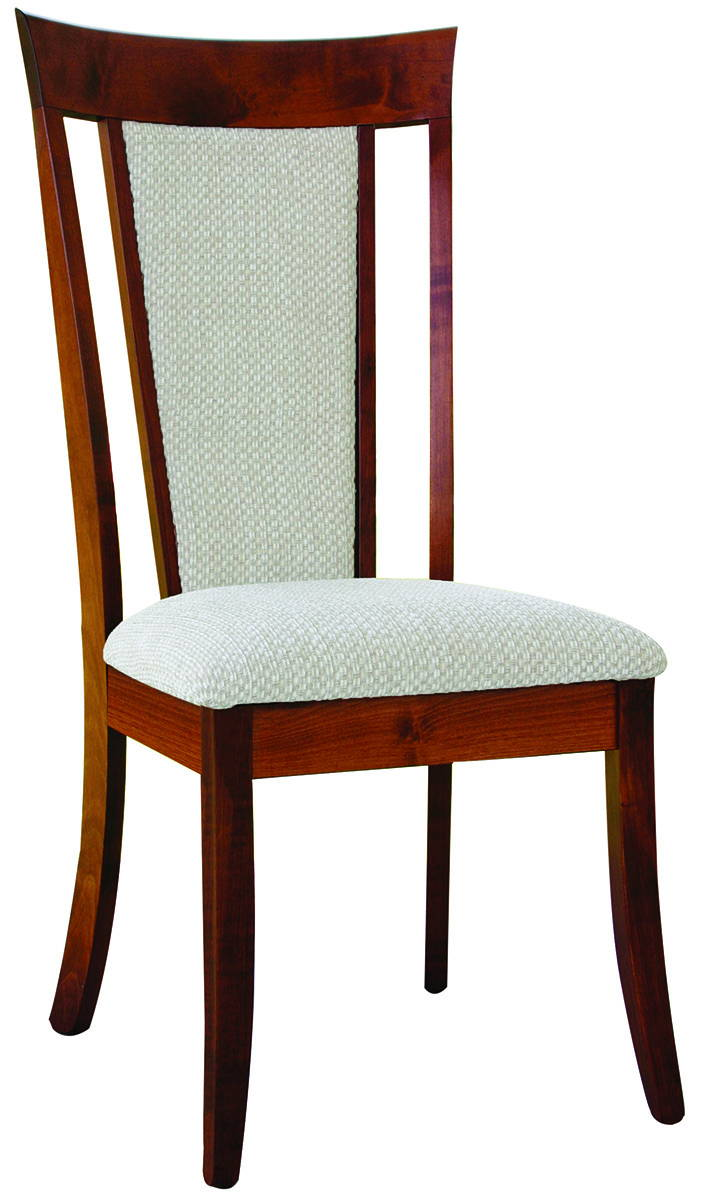 OW Shaker Style Fabric Solid Wood, Handcrafted Kitchen Chair or DIning Chair from Harvest Home Interiors Amish Furniture