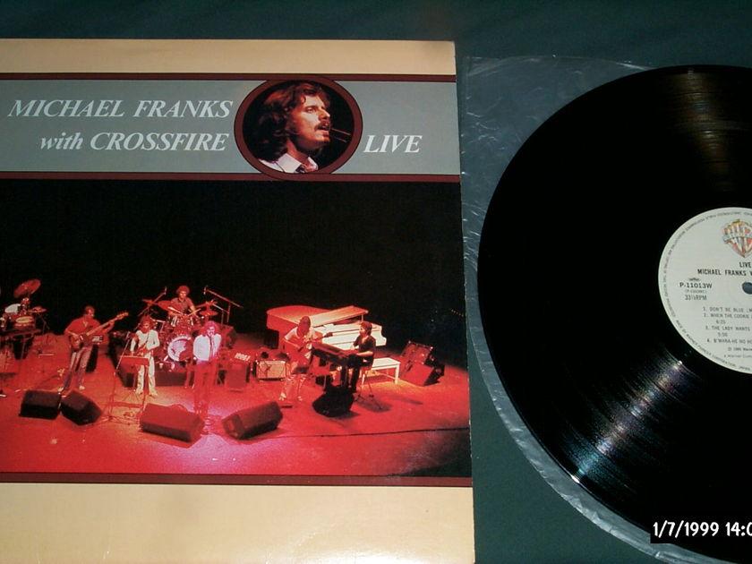 Michael Franks -  With Crossroad Live Warner Japan Only LP