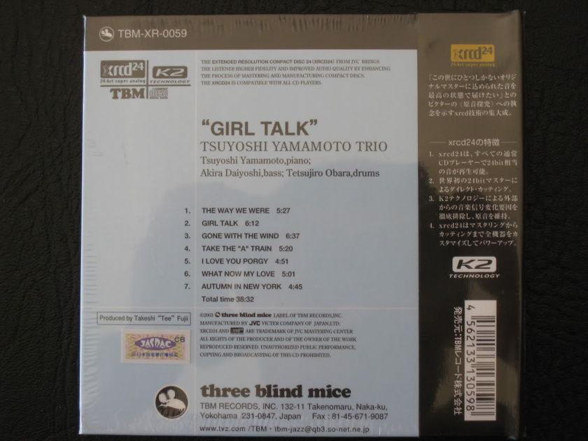 (TBM) TSUYOSHI YAMAMOTO  - - GIRL TALK  - JAPAN JVC  XRCD 24  (BRAND NEW)