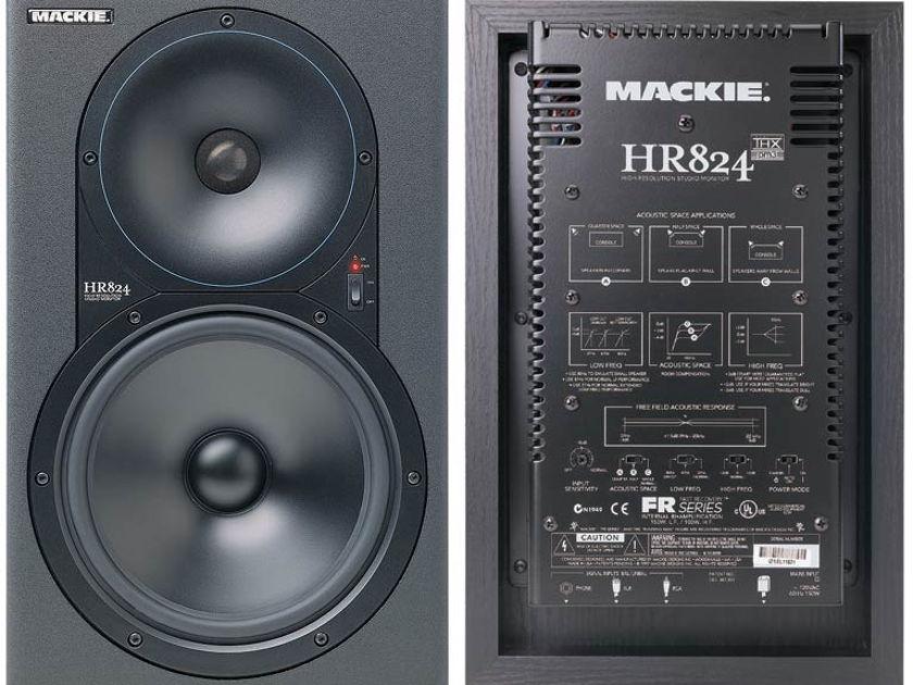 (2) Mackie HR824 FR Series