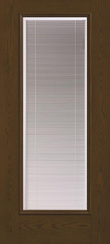 THERMA TRU FULL GLASS WITH BLINDS WOOD GRAIN DOOR