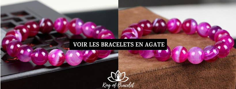 Bracelet Agate Rose - King of Bracelet