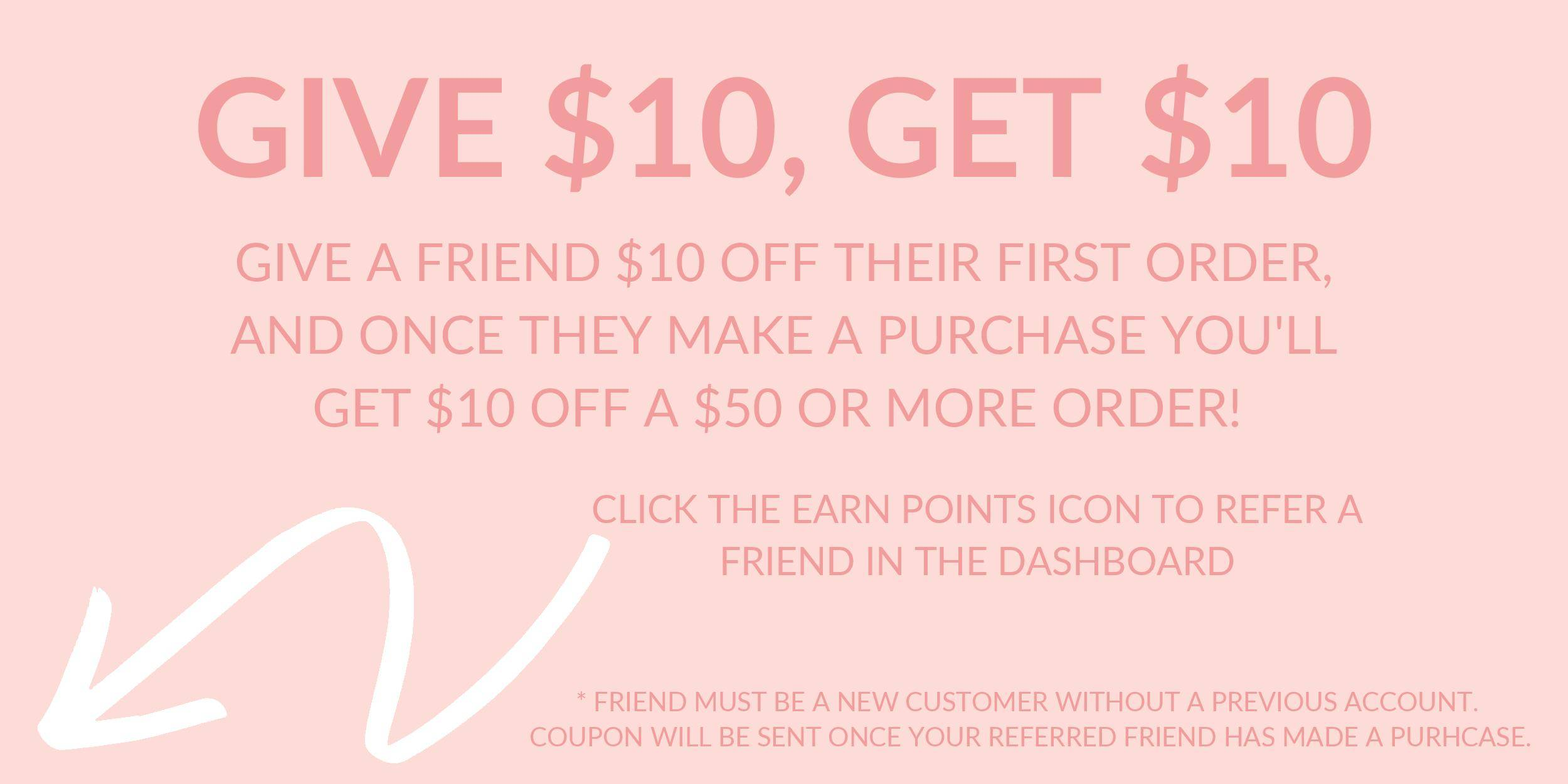 Spotlight Boutique Give $10 Get $10 with rewards