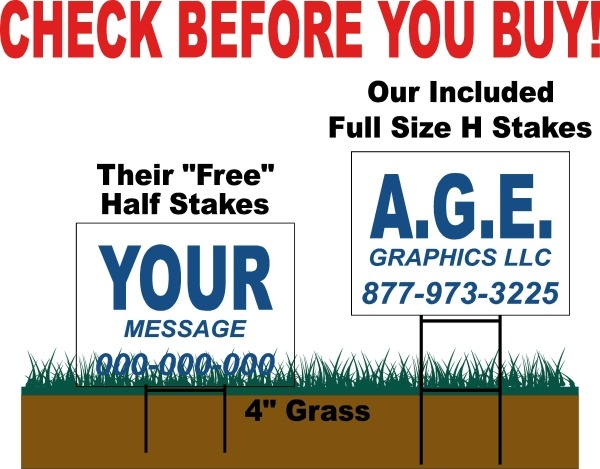 Our Yard Sign Stakes Vs Competition
