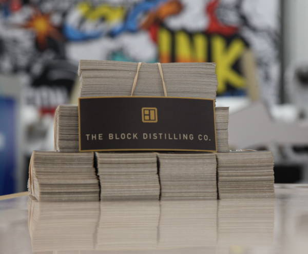 Stickers & Labels -  The Block Distilling CO. Label