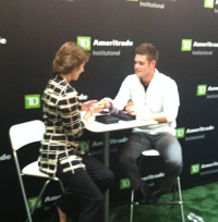 Two-time Olympic-medal winning diver Boudia posed with attendees and TD Ameritrade paid the bill.