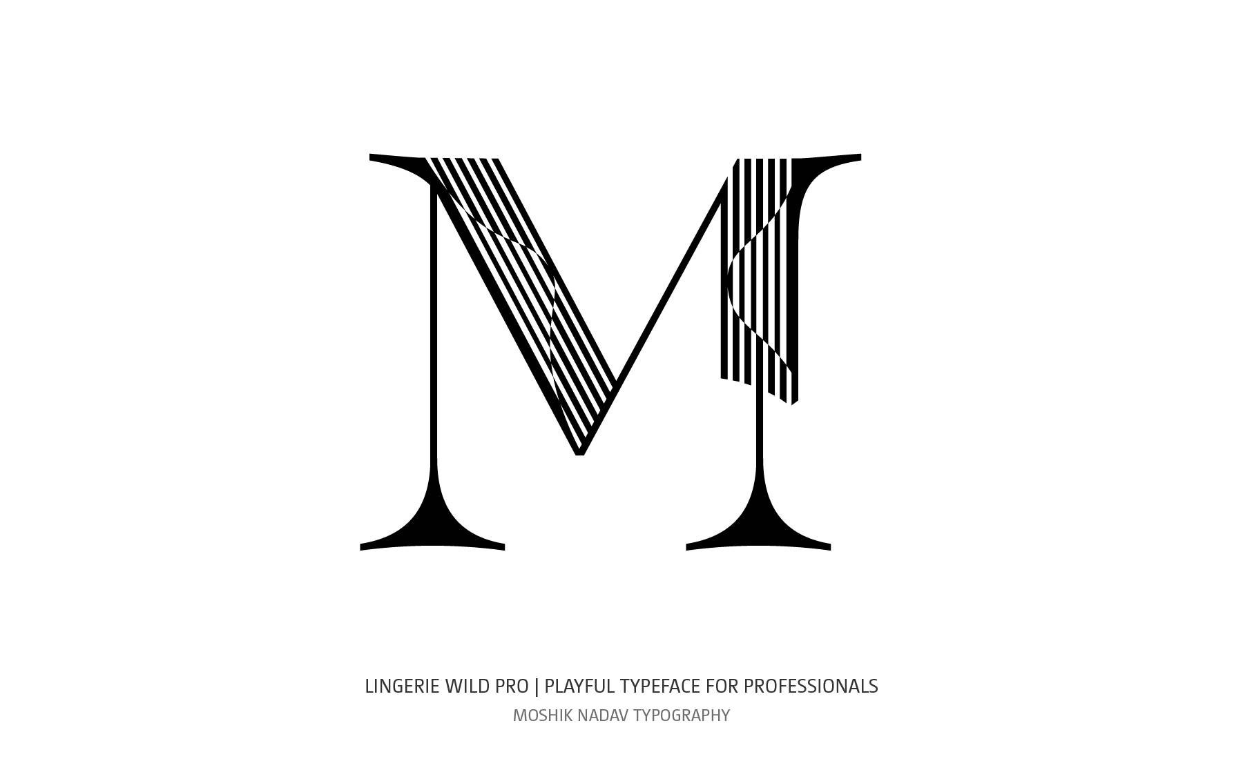Original uppercase M designed for fashion and luxury brands by Moshik Nadav Fashion Typography