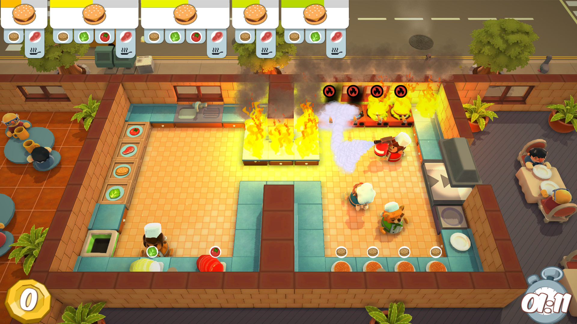 fire and water 2 player game